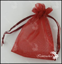 25-400 Luxury Organza Sheer Gift Candy Bags Jewelry Pouches Wedding Party Favor