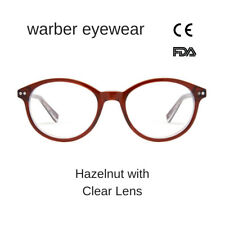 WARBER EYEWEAR - Blue Light Blocking Glasses Computer – Round Hazelnut Glasses