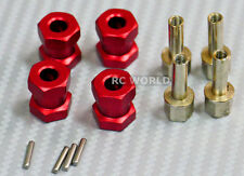RC 1/10 Scale Anodized Aluminum 15MM WHEEL HUB Extension Spacer  -4 pcs- RED