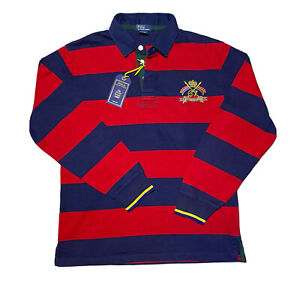 Womens Ladies Polo Ralph Lauren Rugby Top Navy Blue Red XL 20 RRP £135