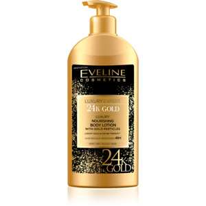 Eveline Luxury Expert 24K Gold&Caviar Therapy Body Lotion with Sparkly Particles