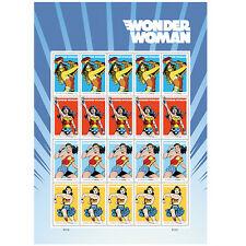 USPS New Wonder Woman pane of 20