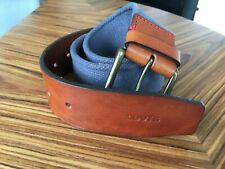 Levi's Canvas And Leather Colorblocked Belt Size 80 / 30-32in Light blue