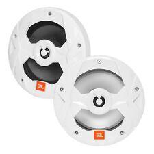 "JBL Club Marine MS8LW 8"" 2-Way Multi-Element RGB LED Speakers (Pair, White)"
