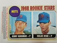 1993 TOPPS MAGAZINE 1968 NOLAN RYAN JUMBO ROOKIE CARD #3 NY METS #177 RARE!