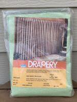 New VTG Montgomery Ward Drapery 48 X 84 Spring Green 2 Panels Lindstrom Pattern