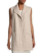 NWT Eileen Fisher 3x Beige  Boiled Wool Vest w/ Pin Closure $338