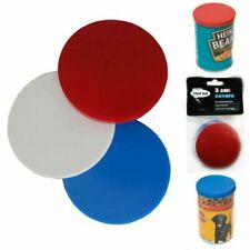3 X CAN COVERS , FITS STANDARD SIZE TIN, PLASTIC LID