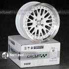 Circuit CP21 16x8 4-100 +25 Gloss White Wheels Fits Honda Civic EG EK JDM Mesh