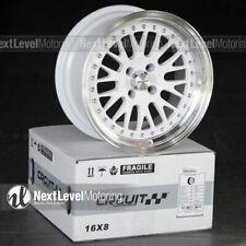 Circuit Cp21 16x8 4 100 25 Gloss White Wheels Fits Honda Civic Eg Ek Jdm Mesh
