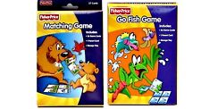 MATCHING + GO FISH CARD GAMES 36 Pre-K, FISHER PRICE, Boy Girl Gift 3+ NEW