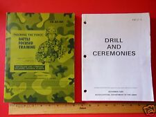 TWO ARMY MANUALS-DRILL & CEREMONIES FM 223-5 - BATTLE FOCUSED TRAINING FM 25-101