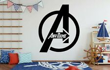 Eigener Avengers Logo Aufkleber Wand Schlafzimmer Dekor Add Jeder Name