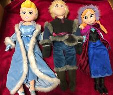 3 X Disney Soft Plush Toy - Frozen Kristoff , Princess Anna & Cinderella