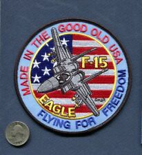 F-15 EAGLE Flying For Freedom USAF ANG FS TFS EFS Fighter Squadron Patch