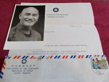 Autographed photo, Wwii Chinese leader Chiang Kai-shek, & authenticating letter