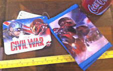 Captain America Iron Man Civil War Marvel Money Wallet Purse Official New