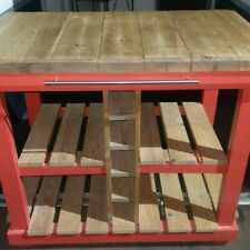 COUNTRY SOLID WOOD RUSTIC  BESPOKE KITCHEN BUTCHERS BLOCK TABLE/STUNNING