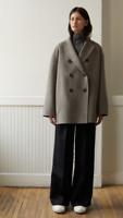 ACNE STUDIOS Odine Double Jacket Grey Size XS Orig. $1150 NWT