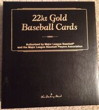 22k GOLD Baseball Card Collection In Collectors Album by Danbury Mint (50 Cards)