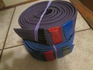 Lot of 2 Karate Taekwondo belt - Blue/Purple belt- 5./each