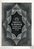 Zigaretten Manoli Sobranje XL Reklame von 1916 Werbung Cigarettes ad Bulgarien