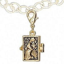 Gold Plated Angel Prayer Wish Box Pewter Locket Jewelry Pendant