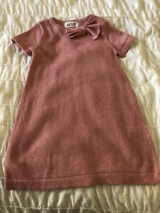 Girls H&M Sparkly Dress Size 98/104 (2-3Years) Pale Pink