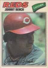 JOHNNY BENCH 1977 Topps Cloth Sticker Stickers card Cincinnati Reds EX+