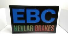 "Rare Vintage EBC Brakes Dealer Light Up Sign 22x14"" Clear Vision USA"