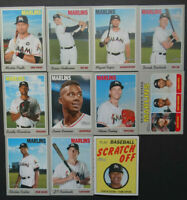 MIAMI MARLINS 2019 Topps Heritage MASTER TEAM SET w/ SP & Inserts (11 Cards)