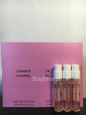 Lot of 3 Chanel Original Chance EDT Sample Spray LARGE 2ml / 0.07oz each