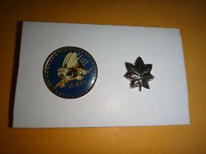 États-Unis Marine Seabees Construction Insigne + Commandant Rang Métal Ton