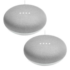 2x Google Home Mini Chalk Smart Speaker Sprachassistent Bluetooth WLAN Streaming