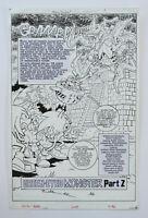 Sonic X #29 Splash Page 1 Original Comic Art Archie 2008 Sonic the Hedgehog Sega