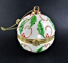 Christmas Ornament Porcelain Ball Box Unsigned Lenox (E66)