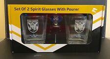 Bull Dogs Nrl 2 Glasses An Nip Pourer