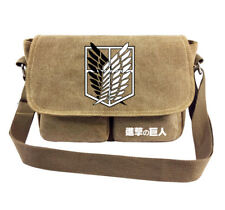 2018 Anime Attack on Titan Shoulder Bag Survey Corps Canvas School Bag Outdoor