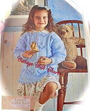 48c319d411271 Vintage Knitting Pattern Girls Berry Bobble Jumper   Cardigan Jacket Just