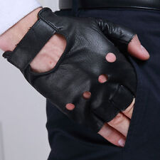 Unisex Faux Leather Gloves Half Finger Fingerless .Stage Sport Cycling Dr pro