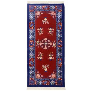 YILONG 2.5'x6' Chinese Art Deco Handmade Wool Red Carpet Hallway Rug Runner