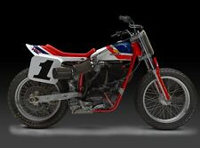 "24"" X 30"" High Definition PHOTOGRAPH Poster of Honda RS750 Flat Tracker"