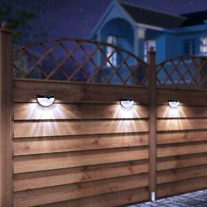 Solar LED Solarleuchten Wandlampen Zaunleuchte Gartenleuchte Außen Treppen Lampe