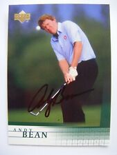ANDY BEAN signed 2001 Upper Deck golf card AUTO FLORIDA GATORS LAFAYETTE GA #52