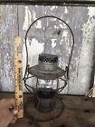 Antique PRR Adlake Kero Lantern Pennsylvania RailRoad Embossed Clear Globe