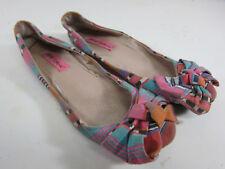 "Betsey Johnson "" Satturn"" Multi Color Womens Size 6M Slip On Flats"