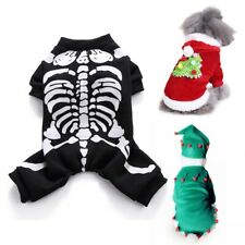 Halloween Pet Dog Clothes Horror Skeleton Cosplay For Dogs Cat Clothing Pets