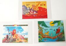 Disney Colorful Postage Stamps Lot of 3 THE LION KING Uganda 2500/- COA Included