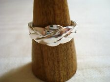 anello puzzle fede turca originale 4 fili vero argento 925  gioiello misura 25