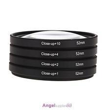 52mm Macro Close-Up Filter Lens Kit +1+2+4+10 for Nikon D5100 D5200 D5300 D7100